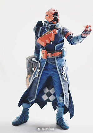 Destiny Warlock Lunar Elegy Shader by Ashley Wood, 3A Toys