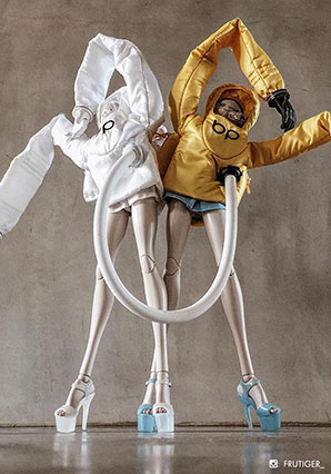 Frosty Chem Death Hazmat Girl by Ashley Wood, 3A Toys