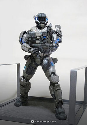 HALO Spartan Mark V EVA Bambaland Exclusive by Ashley Wood, 3A Toys