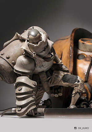 Heavy Duty Loper plus Severed Bot Head Set - POP - Ashley Wood