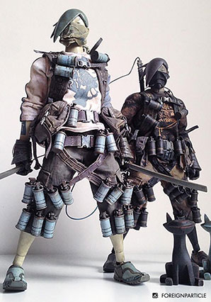 Seven Bones TK Slicer Kureiji Yaro by Ashley Wood, 3A Toys