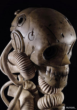 Stained and Stygian Skull (Weathered Onyx) - AK - Ashley Wood