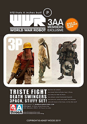 Triste Fight Death Swingers 3Pack Stiffy Set - WWRp - Ashley Wood