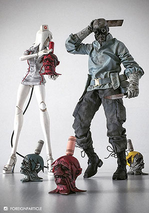 Zomb MD Dr Shitvago and Albino Nurse Zomb Set by Ashley Wood, 3A Toys
