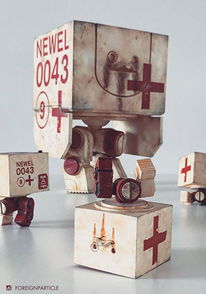 Mighty Square Medic Newel - WWR - Ashley Wood
