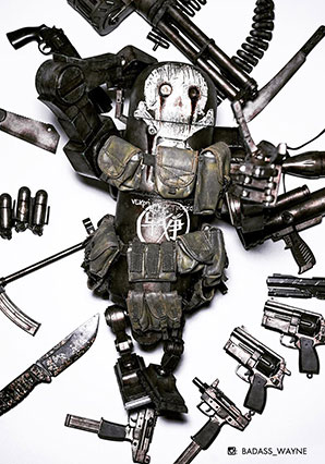 ROBOT CLUB Three Warbot Full Load - WWR - Ashley Wood